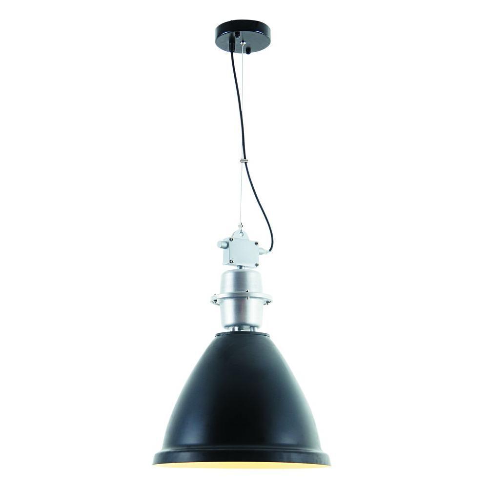 Elegant Lighting Industrial 1-Light Black Pendant Lamp