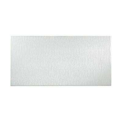 Dunes Vertical 96 in. x 48 in. Decorative Wall Panel in Gloss White