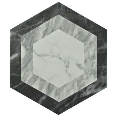 Classico Bardiglio Hexagon Geo 7 in. x 8 in. Porcelain Floor and Wall Tile (7.67 sq. ft. / case)