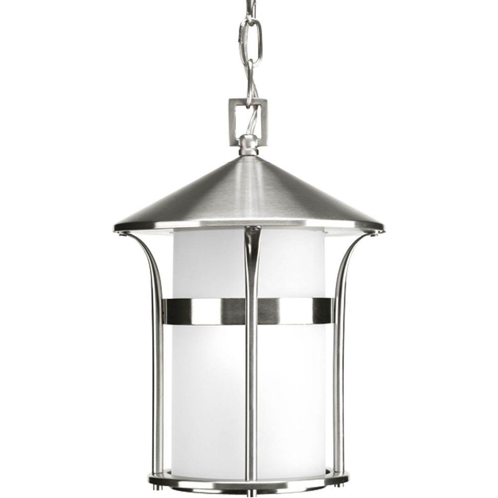 Progress Lighting Welcome Collection 1-Light Stainless Steel Hanging Lantern-DISCONTINUED