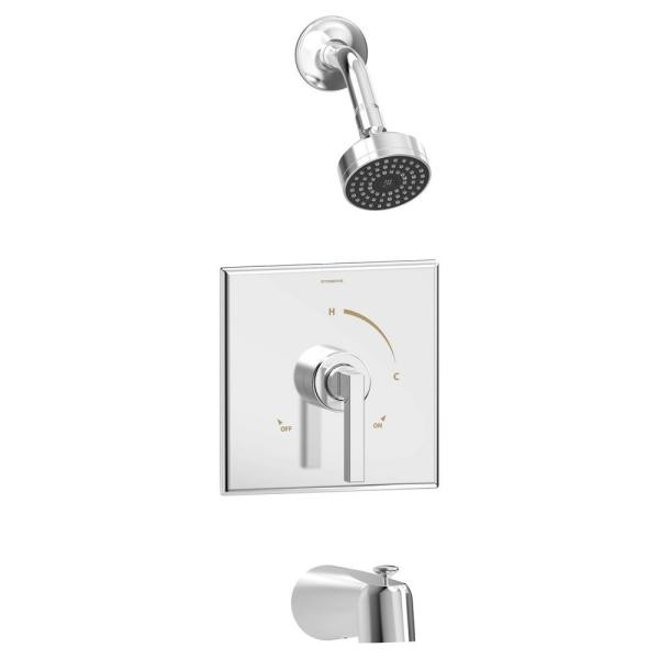 Duro Single Handle 1-Spray Tub and Shower Faucet Trim in Polished Chrome - 1.5 GPM (Valve not Included)