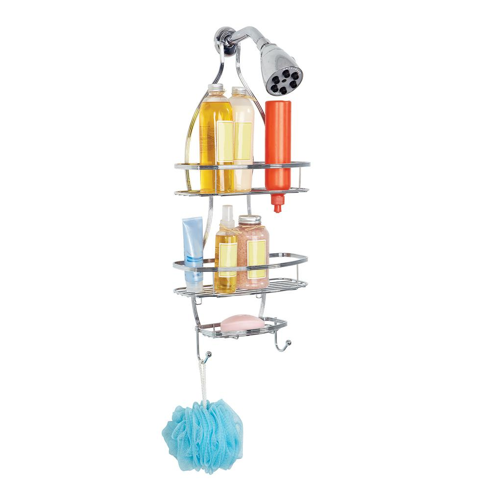 Triple Wire Shower Caddy in Glossy Chrome