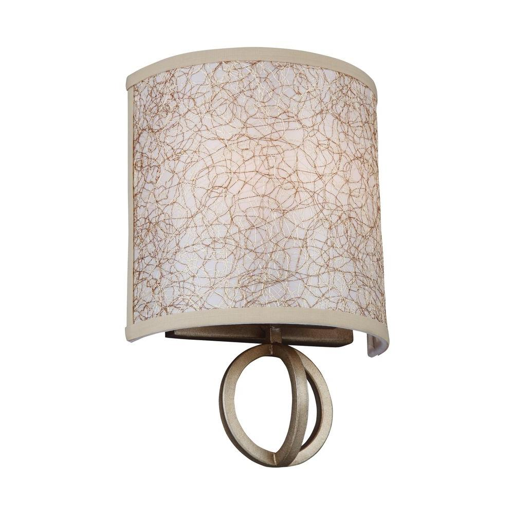 Parchment Park 2-Light Burnished Silver Sconce