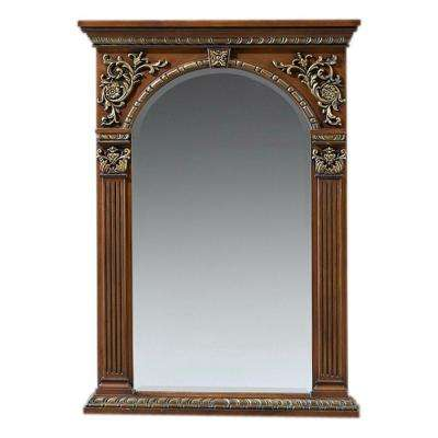 Royal 41 in. H x 29 in. W Single Mirror in Light Coffee Frame-DISCONTINUED