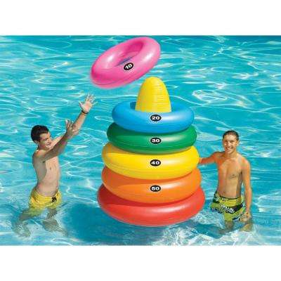 Giant Inflatable Ring Toss Pool Game