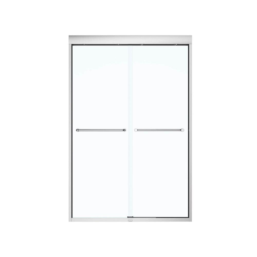 Kameleon 59 in. x 71 in. Semi-Frameless Sliding Shower Door in Brushed Nickel with Handle