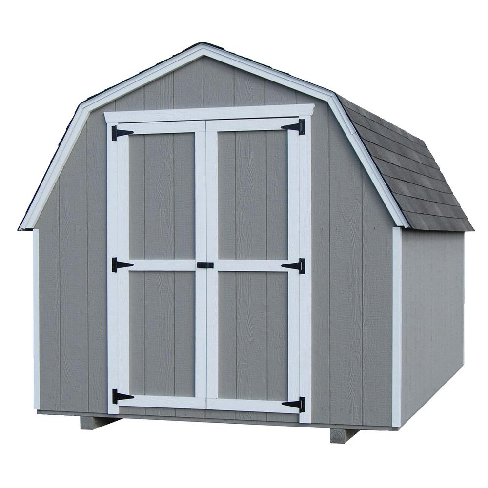 LITTLE COTTAGE CO. Value Gambrel 12 ft. x 14 ft. Wood Storage Building Precut Kit with 4 ft. Sidewalls with Floor