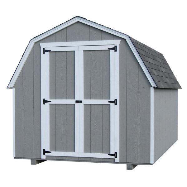 Value Gambrel 8 ft. x 10 ft. Wood Storage Building Precut Kit with 4 ft. Sidewalls
