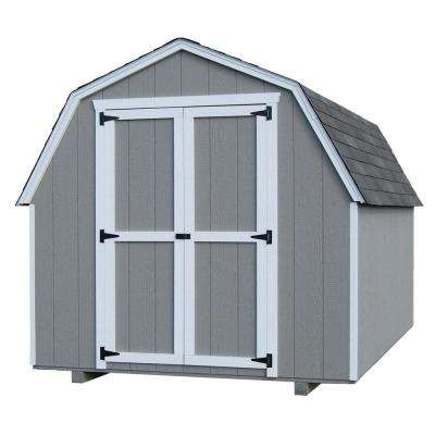 Value Gambrel 8 ft. x 10 ft. Wood Storage Building Precut Kit with 4 ft. Sidewalls with Floor