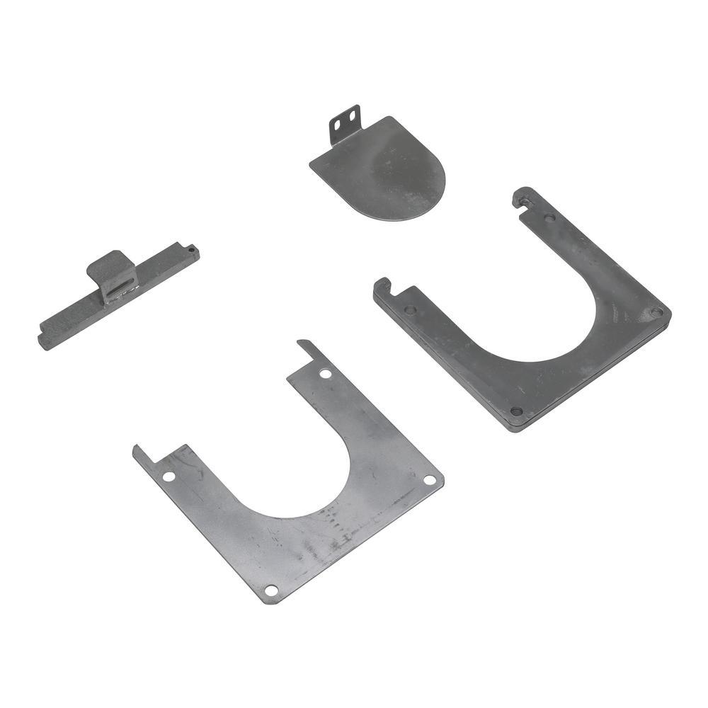 2 in. 10-1/2 in. Silver Zinc Plated Steel Safety Bollard Base