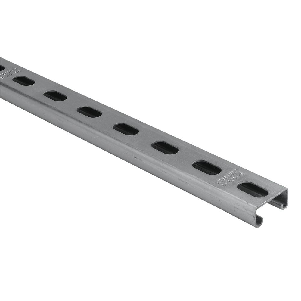 Superstrut 4 ft. 14-Gauge Electro-Galvanized Half Slot Steel Strut Channel