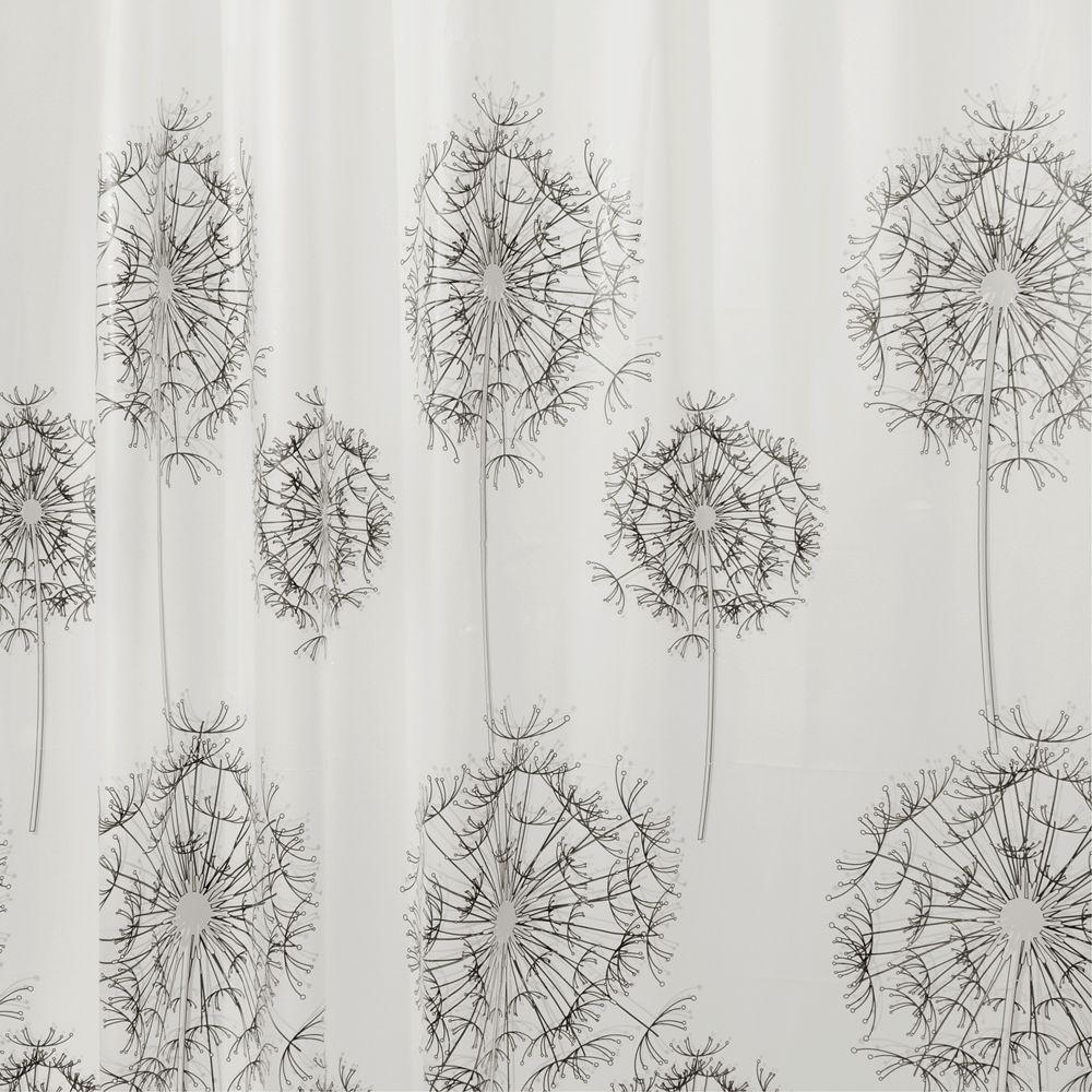 Allium Shower Curtain in Gray/Black