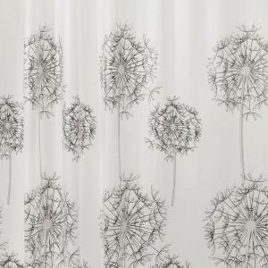 Allium Shower Curtain in Gray/Black by