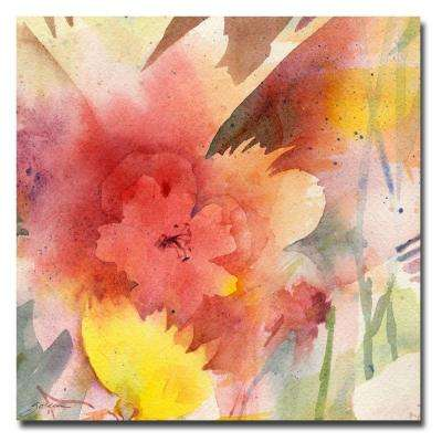 18 in. x 18 in. Hibiscus Shadow Canvas Art