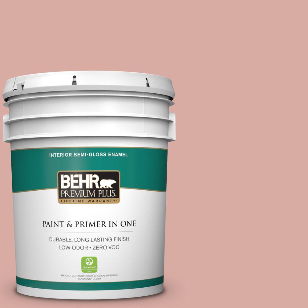 5 gal. #T17-06 Everything's Rosy Zero VOC Semi-Gloss Enamel Interior Paint