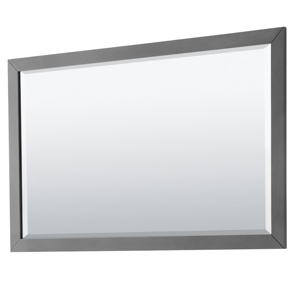 Wyndham Collection Daria 58 in. W x 36 in. H Framed Wall Mirror in Dark Gray