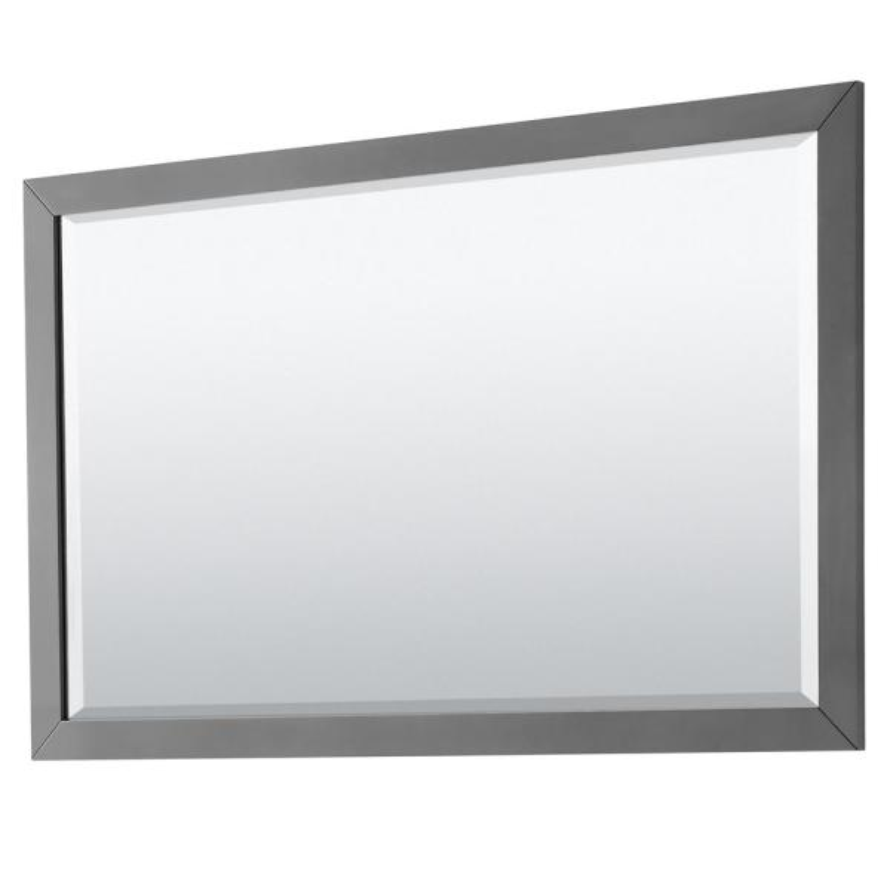 Daria 58 in. W x 36 in. H Framed Rectangular Bathroom Vanity Mirror in Dark Gray