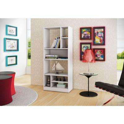 Valenca White Open Bookcase