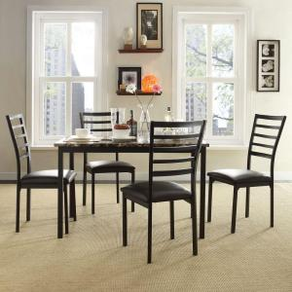 miona 5piece black dining set