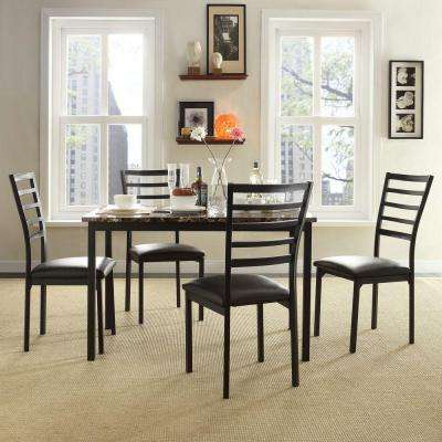 Miona 5-Piece Black Dining Set
