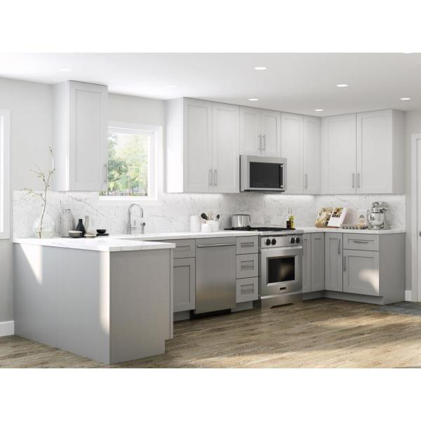 Contractor Express Cabinets Vesper White Shaker Assembled Plywood 3 34 5 In X 24 In Kitchen Cabinet Base Decorative Dishwasher End Panel Bp3 Xvw The Home Depot