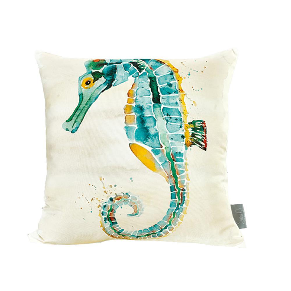 Seahorse Multicolor Decorative Pillow