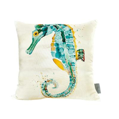 Seahorse Multicolored Standard Throw Pillow