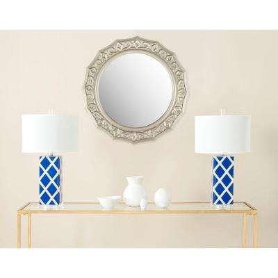 Gossamer Lace 24 in. x 25 in. solid Wood Framed Mirror