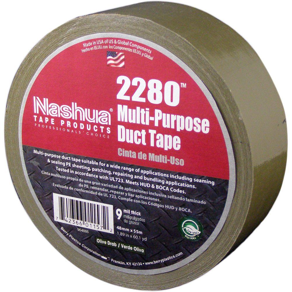 1.89 in. x 60.1 yds. 2280 Multi-Purpose Olive Drab Duct Tape