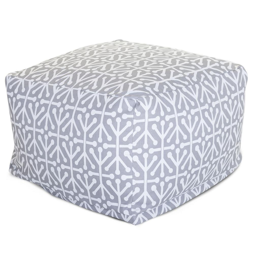 Gray Aruba Indoor/Outdoor Ottoman Cushion