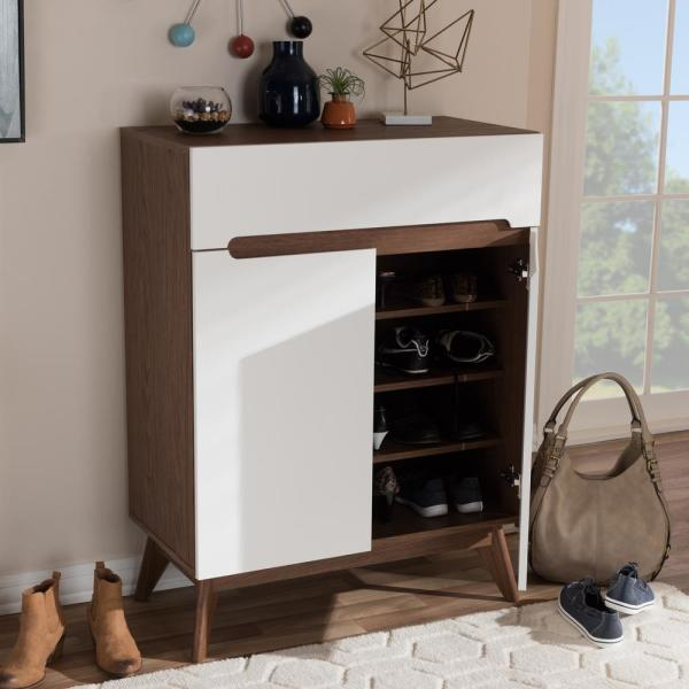 Baxton Studio Calypso White Storage Cabinet