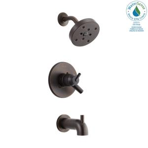 Trinsic 1-Handle Wall Mount Tub and Shower Faucet Trim Kit in Venetian Bronze with H2Okinetic (Valve Not Included)