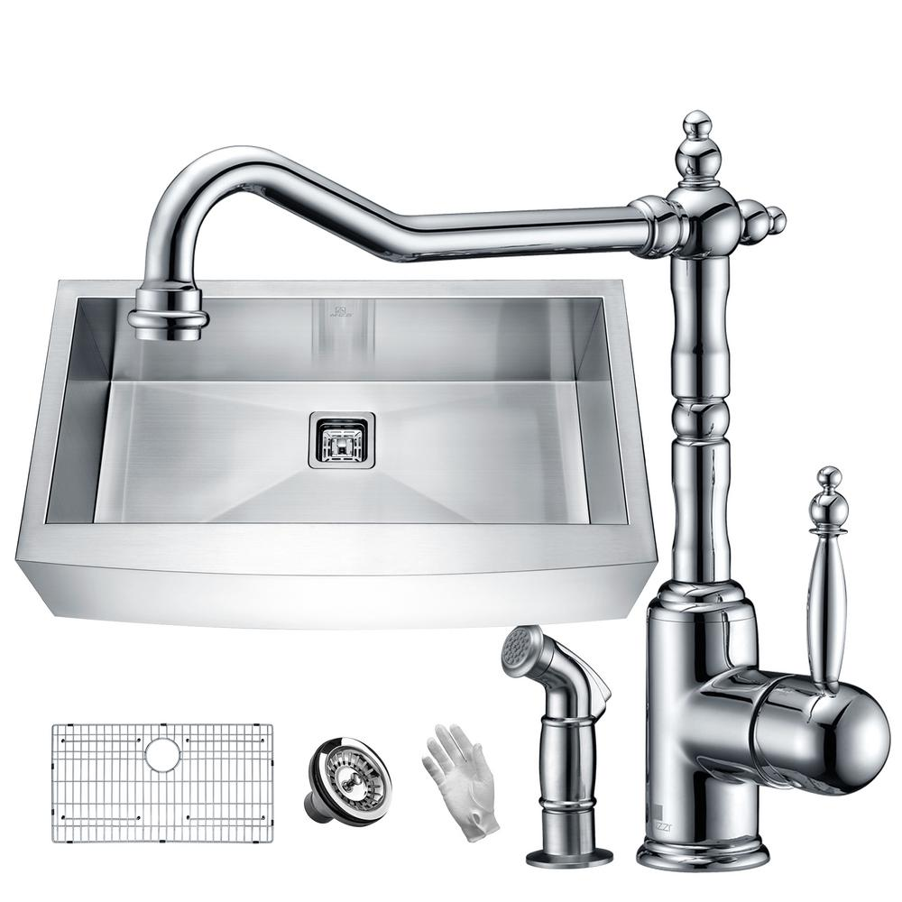 Stainless Steel Kitchen Faucet Home Depot