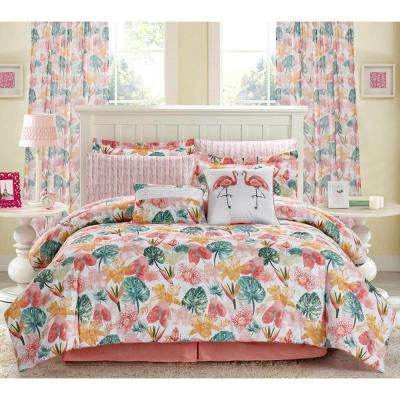 Calypso 4-Piece Blush Queen Comforter Set