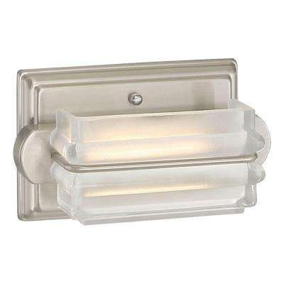 1-Light Brushed Nickel LED Bath Vanity Light