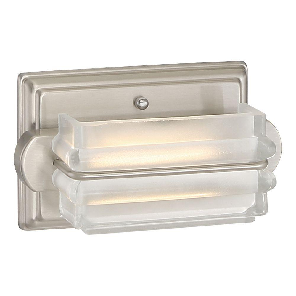 1-Light Brushed Nickel LED Bath Vanity Light  sc 1 st  The Home Depot & Integrated LED - Vanity Lighting - Lighting - The Home Depot azcodes.com
