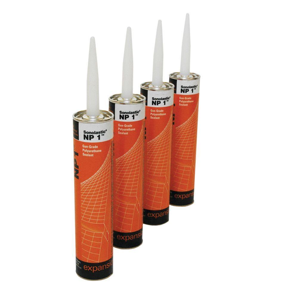 Sonneborn NP1 10.1 oz. Gun-Grade Polyurethane Sealants (4-Pack) Aluminum Grey
