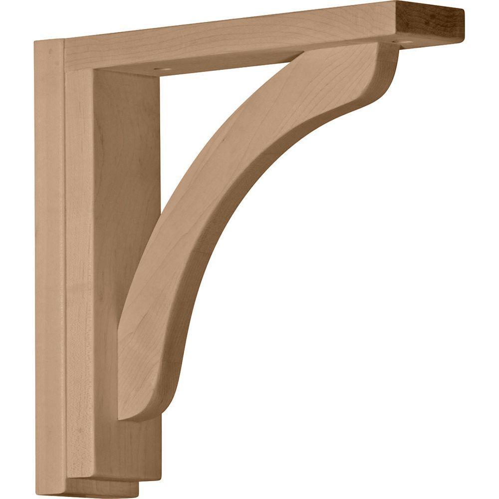 2-1/2 in. x 10-3/4 in. x 10-1/4 in. Maple Reece Shelf Bracket