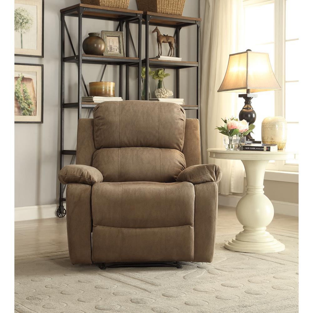 Acme Furniture Taupe Bina Memory Foam Recliner by Acme Furniture