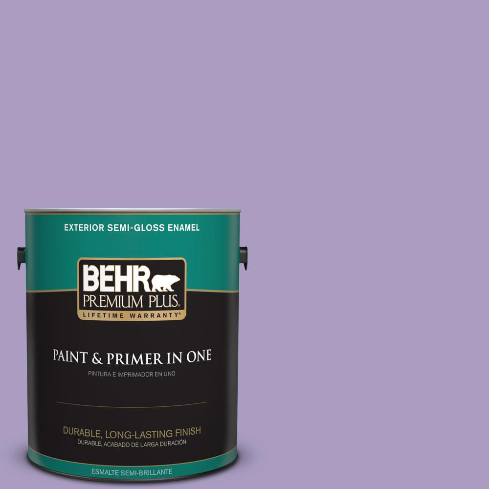 1-gal. #M560-4 Evening Slipper Semi-Gloss Enamel Exterior Paint
