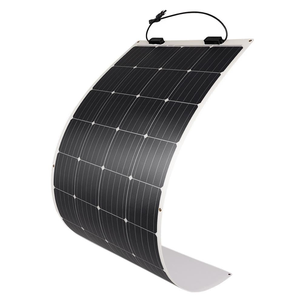 Renogy 175-Watt 12-Volt Extremely Flexible Ultra-Thin and Light Weight Monocrystalline Solar Panel for RVs and Boats