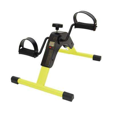 Foldable Yellow Pedal Exerciser with Digital Display