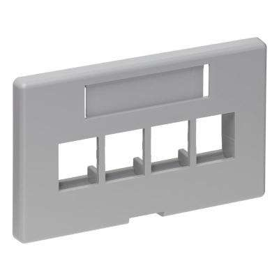 QuickPort 4-Port Modular Furniture Herman Miller Faceplate, Gray