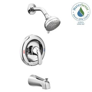 Moen Adler 1-Handle 4-Spray Tub and Shower Faucet with Valve in Chrome (Valve Included) by MOEN