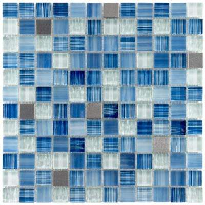 Tessera Square Alpine 11-5/8 in. x 11-5/8 in. x 8 mm Glass and Metal Mosaic Tile
