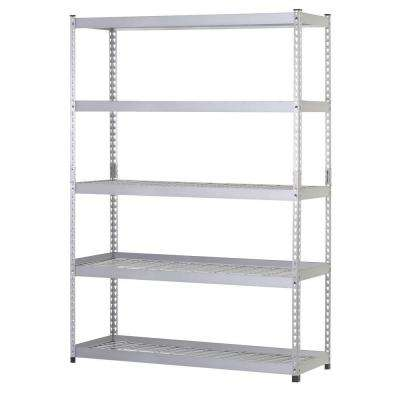 78 in. H x 48 in. W x 24 in. D 5 Shelf Steel Unit