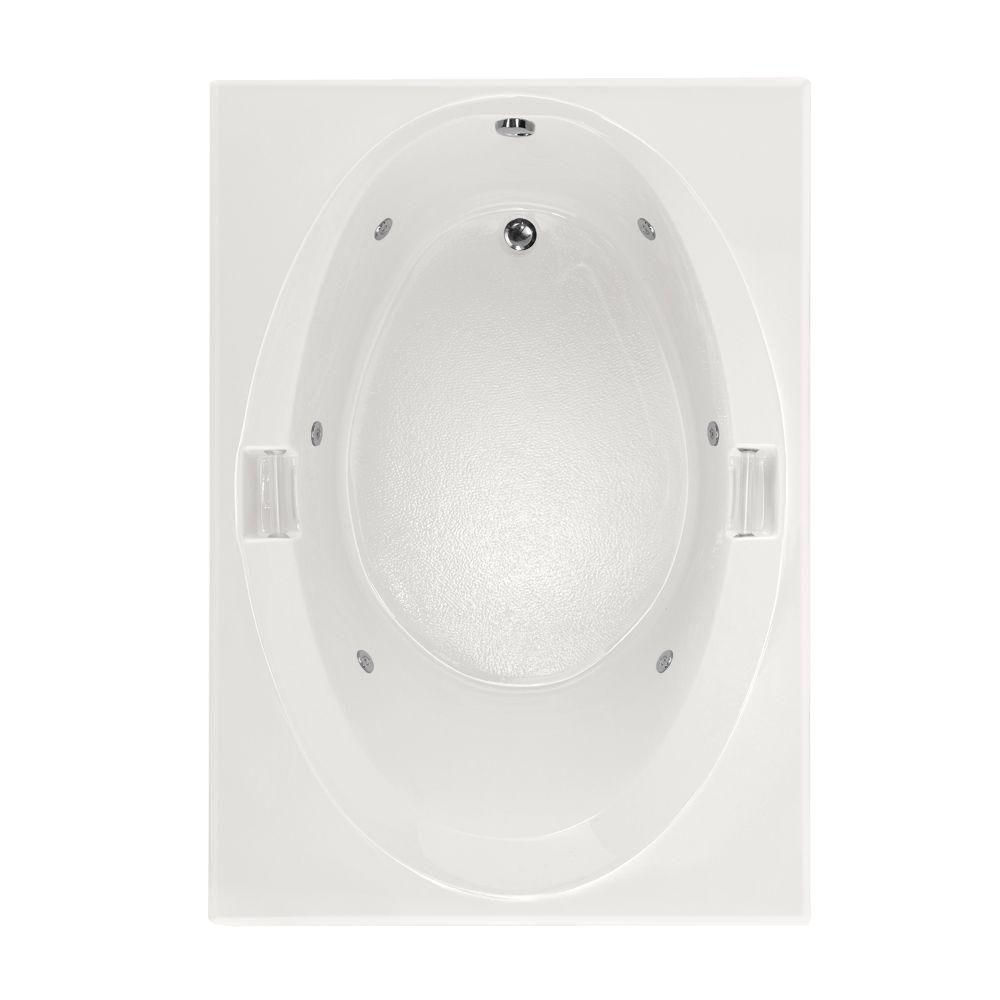 Studio 5 ft. Reversible Drain Whirlpool Tub in White