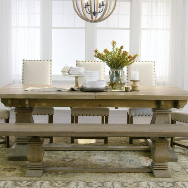 Home Decorators Collection Aldridge Extendable Dining Table Nb023ag The Home Depot