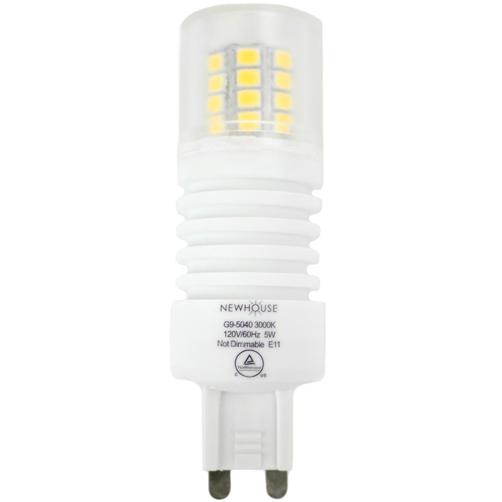 40-Watt Equivalent Soft White G9 Non Dimmable LED Light Bulb  sc 1 st  The Home Depot & Newhouse Lighting - LED Bulbs - Light Bulbs - The Home Depot azcodes.com