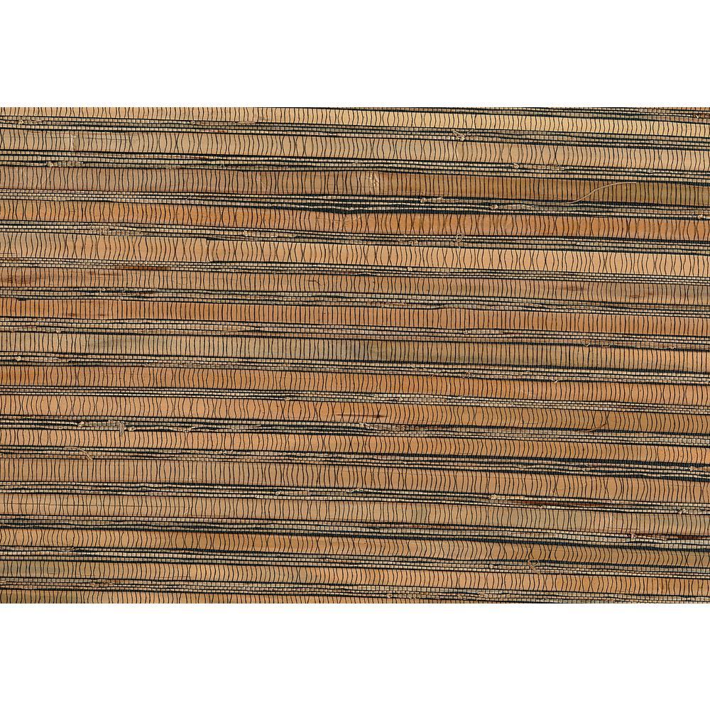 72 sq. ft. Naomi Brown Grasscloth Wallpaper